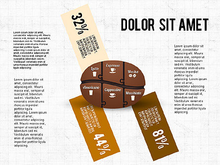 Coffee Bean Infographics, Slide 3, 02828, Infographics — PoweredTemplate.com