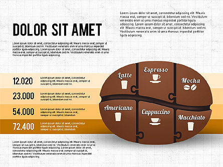 Coffee Bean Infographics, Slide 4, 02828, Infographics — PoweredTemplate.com