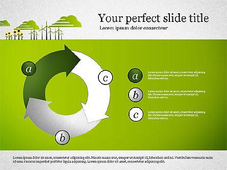 Ecology Presentation with Data Driven Charts, 02830, Presentation Templates — PoweredTemplate.com