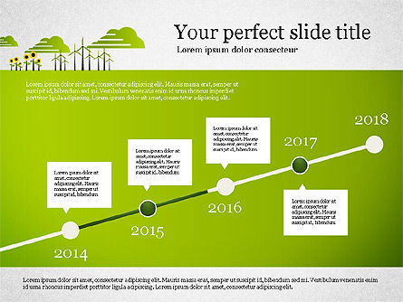 Ecology Presentation with Data Driven Charts, Slide 3, 02830, Presentation Templates — PoweredTemplate.com