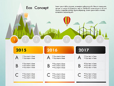 Presentation Templates: Eco Presentation Template Concept with Data Driven Charts #02832