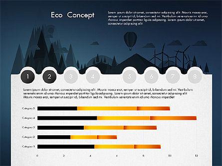 Eco Presentation Template Concept with Data Driven Charts, Slide 10, 02832, Presentation Templates — PoweredTemplate.com