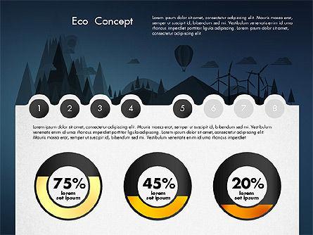 Eco Presentation Template Concept with Data Driven Charts, Slide 13, 02832, Presentation Templates — PoweredTemplate.com