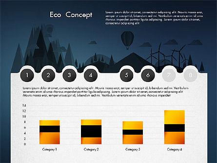 Eco Presentation Template Concept with Data Driven Charts, Slide 14, 02832, Presentation Templates — PoweredTemplate.com