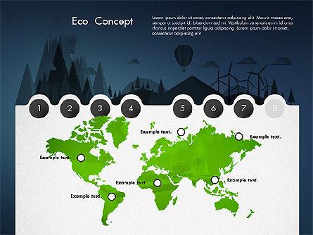 Eco Presentation Template Concept with Data Driven Charts, Slide 15, 02832, Presentation Templates — PoweredTemplate.com
