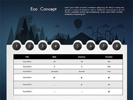 Eco Presentation Template Concept with Data Driven Charts, Slide 16, 02832, Presentation Templates — PoweredTemplate.com