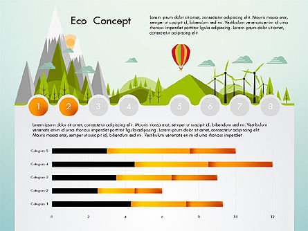 Eco Presentation Template Concept with Data Driven Charts, Slide 2, 02832, Presentation Templates — PoweredTemplate.com