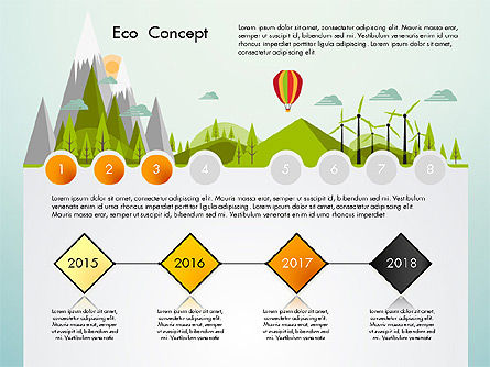 Eco Presentation Template Concept with Data Driven Charts, Slide 3, 02832, Presentation Templates — PoweredTemplate.com