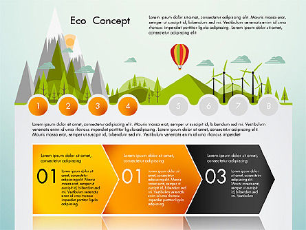 Eco Presentation Template Concept with Data Driven Charts, Slide 4, 02832, Presentation Templates — PoweredTemplate.com