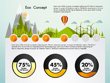 Eco Presentation Template Concept with Data Driven Charts, Slide 5, 02832, Presentation Templates — PoweredTemplate.com