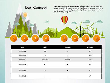 Eco Presentation Template Concept with Data Driven Charts, Slide 8, 02832, Presentation Templates — PoweredTemplate.com