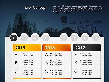 Eco Presentation Template Concept with Data Driven Charts, Slide 9, 02832, Presentation Templates — PoweredTemplate.com