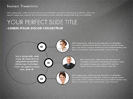 Team Relations Presentation Template, Slide 11, 02833, Organizational Charts — PoweredTemplate.com