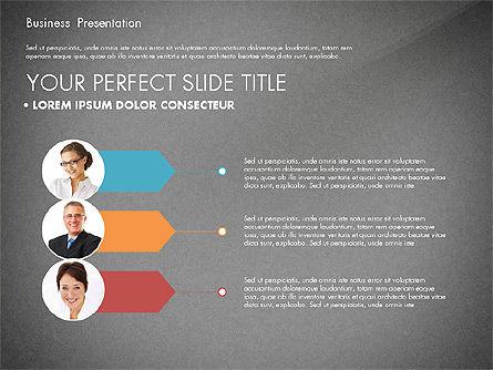 Team Relations Presentation Template, Slide 12, 02833, Organizational Charts — PoweredTemplate.com