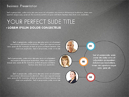 Team Relations Presentation Template, Slide 13, 02833, Organizational Charts — PoweredTemplate.com