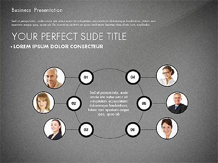 Team Relations Presentation Template, Slide 14, 02833, Organizational Charts — PoweredTemplate.com