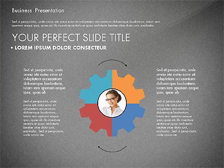 Team Relations Presentation Template, Slide 15, 02833, Organizational Charts — PoweredTemplate.com
