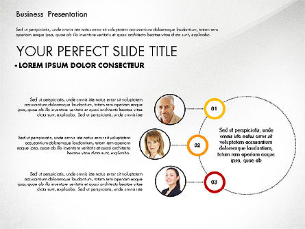 Team Relations Presentation Template, Slide 5, 02833, Organizational Charts — PoweredTemplate.com
