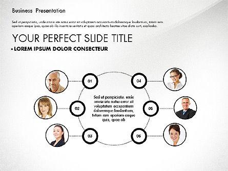 Team Relations Presentation Template, Slide 6, 02833, Organizational Charts — PoweredTemplate.com
