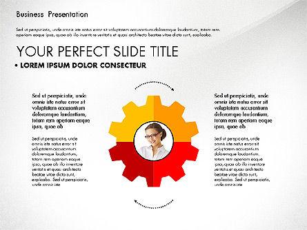 Team Relations Presentation Template, Slide 7, 02833, Organizational Charts — PoweredTemplate.com