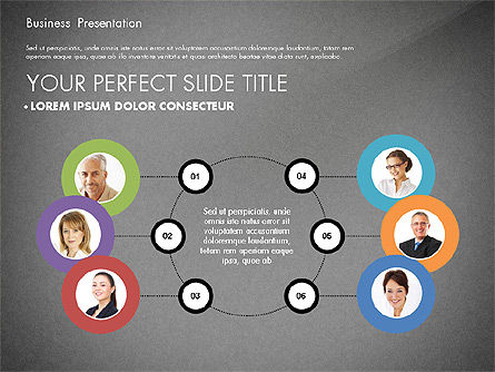 Team Relations Presentation Template, Slide 9, 02833, Organizational Charts — PoweredTemplate.com