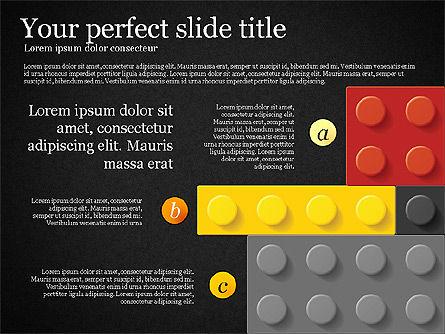 Lego Blocks Presentation Concept, Slide 10, 02836, Presentation Templates — PoweredTemplate.com