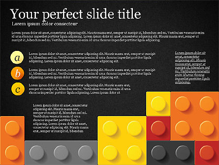 Lego Blocks Presentation Concept, Slide 9, 02836, Presentation Templates — PoweredTemplate.com