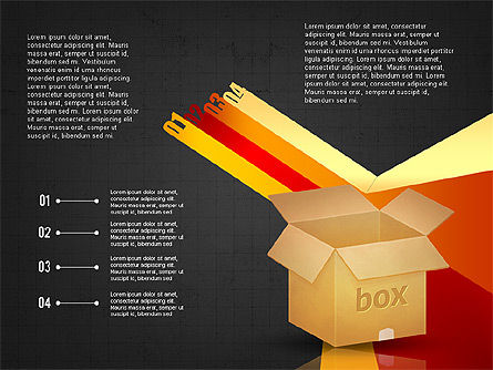 Packaging and Delivering Options Concept, Slide 10, 02837, Process Diagrams — PoweredTemplate.com