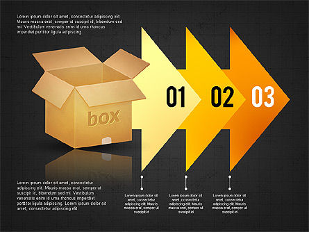 Packaging and Delivering Options Concept, Slide 11, 02837, Process Diagrams — PoweredTemplate.com