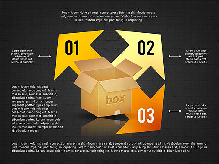 Packaging and Delivering Options Concept, Slide 16, 02837, Process Diagrams — PoweredTemplate.com
