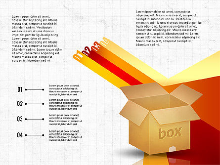 Packaging and Delivering Options Concept, Slide 2, 02837, Process Diagrams — PoweredTemplate.com