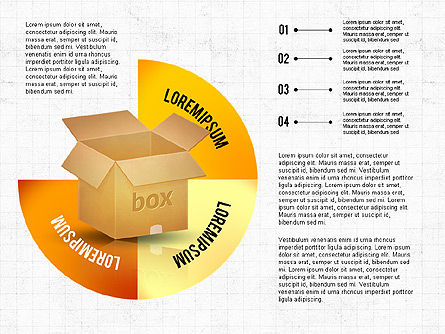 Packaging and Delivering Options Concept, Slide 4, 02837, Process Diagrams — PoweredTemplate.com