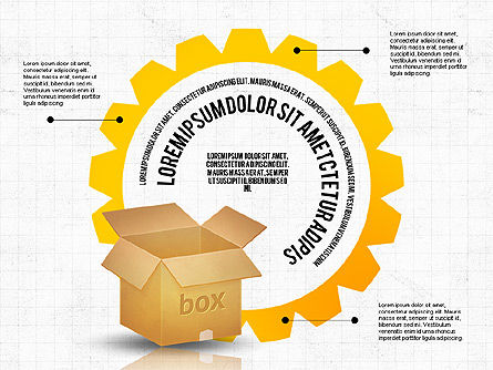 Packaging and Delivering Options Concept, Slide 7, 02837, Process Diagrams — PoweredTemplate.com