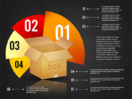 Packaging and Delivering Options Concept, Slide 9, 02837, Process Diagrams — PoweredTemplate.com