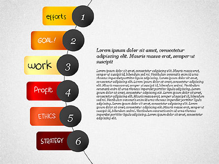 Strategic Planning Presentation Concept, 02839, Presentation Templates — PoweredTemplate.com