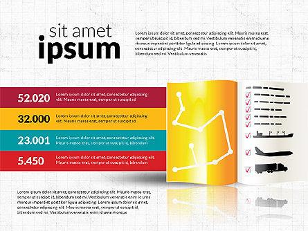 Logistics Infographics, 02842, Infographics — PoweredTemplate.com