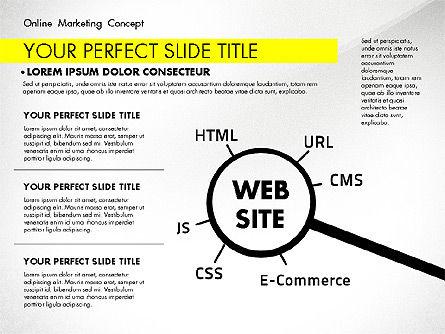 Online Marketing Concept, Slide 6, 02844, Presentation Templates — PoweredTemplate.com