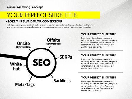 Online Marketing Concept, Slide 7, 02844, Presentation Templates — PoweredTemplate.com
