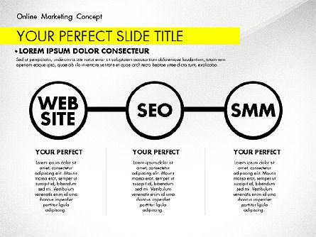 Online Marketing Concept, Slide 8, 02844, Presentation Templates — PoweredTemplate.com