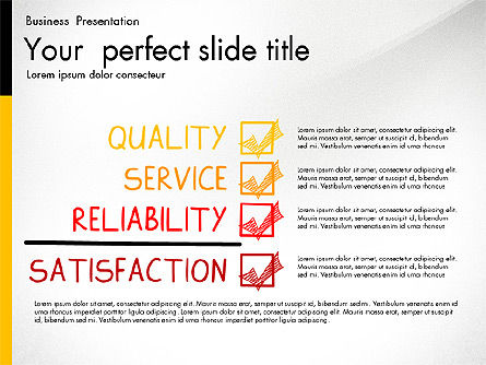Quality Service Presentation Template, 02846, Data Driven Diagrams and Charts — PoweredTemplate.com