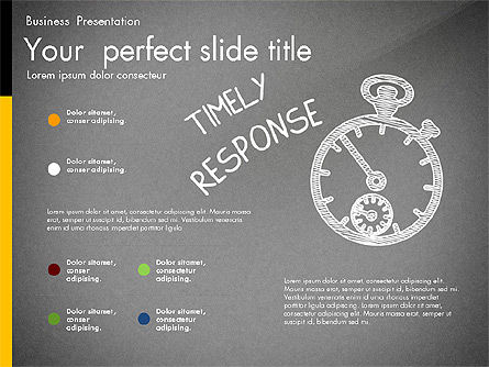 Quality Service Presentation Template, Slide 10, 02846, Data Driven Diagrams and Charts — PoweredTemplate.com