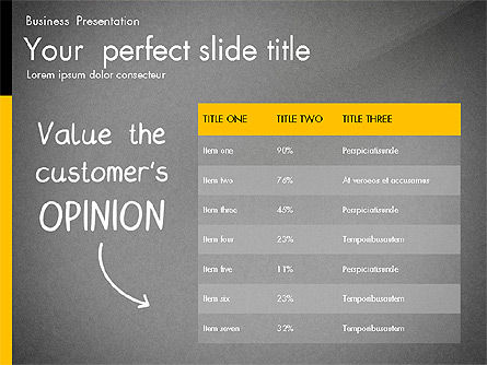 Quality Service Presentation Template, Slide 11, 02846, Data Driven Diagrams and Charts — PoweredTemplate.com