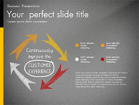 Quality Service Presentation Template, Slide 12, 02846, Data Driven Diagrams and Charts — PoweredTemplate.com