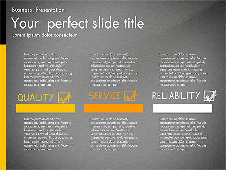 Quality Service Presentation Template, Slide 13, 02846, Data Driven Diagrams and Charts — PoweredTemplate.com