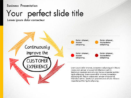 Quality Service Presentation Template, Slide 4, 02846, Data Driven Diagrams and Charts — PoweredTemplate.com