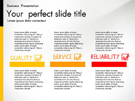 Quality Service Presentation Template, Slide 5, 02846, Data Driven Diagrams and Charts — PoweredTemplate.com