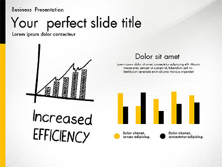 Quality Service Presentation Template, Slide 6, 02846, Data Driven Diagrams and Charts — PoweredTemplate.com