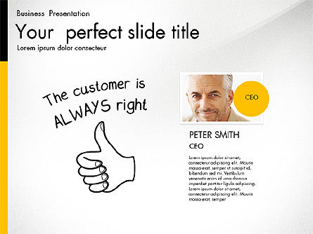 Quality Service Presentation Template, Slide 7, 02846, Data Driven Diagrams and Charts — PoweredTemplate.com