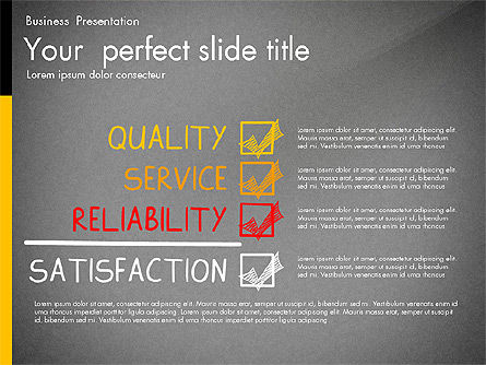 Quality Service Presentation Template, Slide 9, 02846, Data Driven Diagrams and Charts — PoweredTemplate.com
