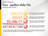 Data Driven Diagrams and Charts: Quality Service Presentation Template #02846